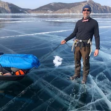 Hervé Bouty, guide arctique au Baikal