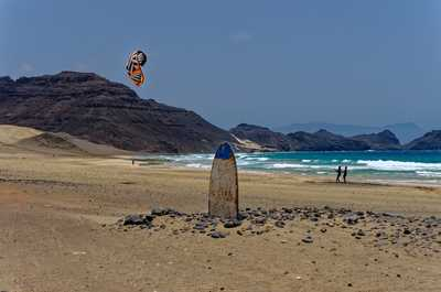Cours de kitesurf sur l'île de Sao Vicente
