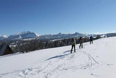 En ski dans le Vercors l'hiver