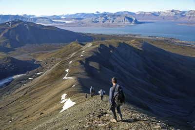 Randonnée au Spitzberg, Svalbard, fjord d'Ekman