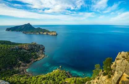 Vue depuis La Trapa à Majorque