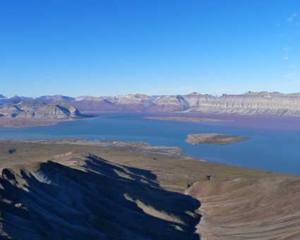 Fjord d'Ekman au Spitzberg, Svalbard