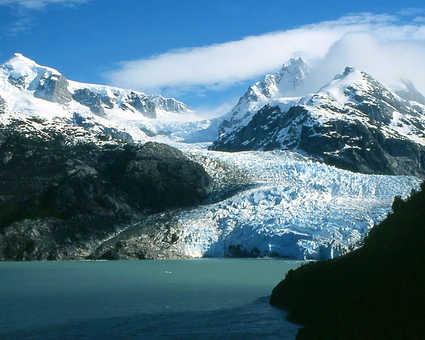 Le glacier Leones, merveille de la Route Australe, dans la région d'Aysen au Chili