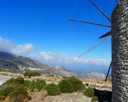 Naxos, les moulins à vent