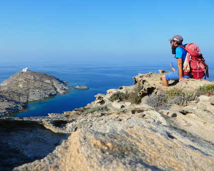 Randonnée côtière à Paros, Naoussa, Cyclades
