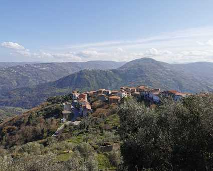 Village de Frazzanò en Sicile