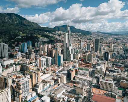 Ville de Bogota, capitale de la Colombie