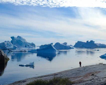 Vue sur la baie de Disko, Groenland