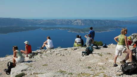 Croatie du sommet de l'île de Hvar