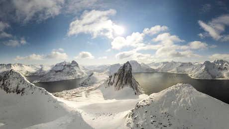 île de Senja en hiver, Norvège du Nord