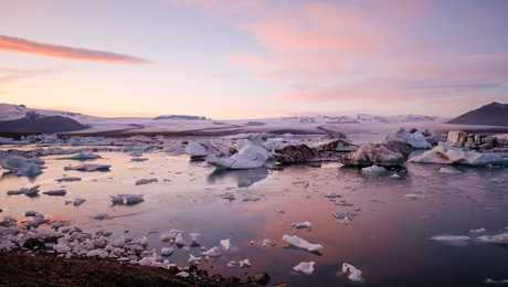 Lagune Jokulsarlon Islande