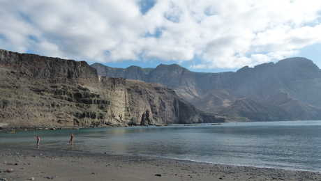 Vue d'une plage proche d'Agaete à Gran Canaria