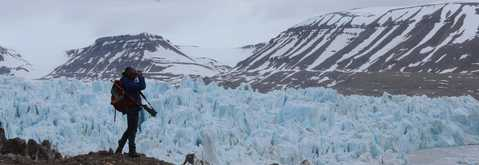 Maud Sevaux, guide arctique au Svalbard