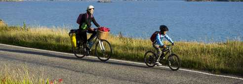 Cyclistes North Coast 500 Highland Nord Ecosse