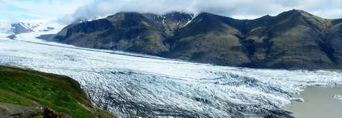 Glacier l'été en Islande