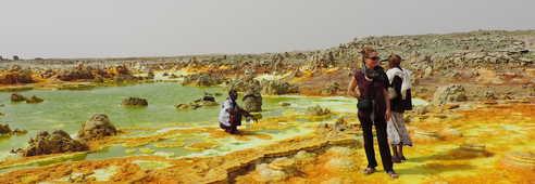 Le volcan Dallol en Ethiopie
