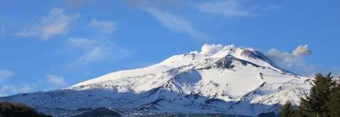 Neige sur l'Etna en Sicile
