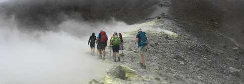 Randonnée sur le volcan de Vulcano