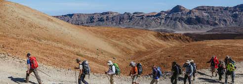 Randonneurs dans le parc national du Teide