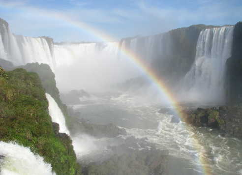 Arc en ciel sur les chutes d'Iguaçu