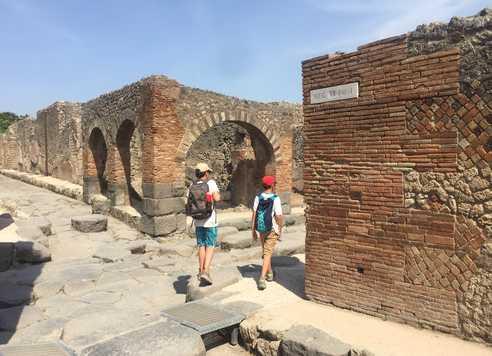 Balade dans le site de Pompei en Italie