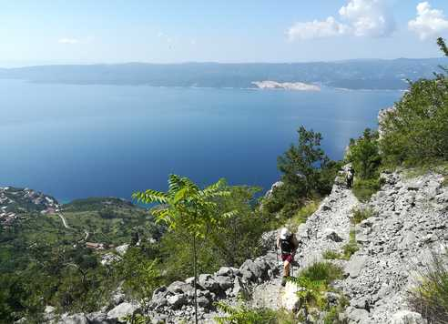 Croatie, randonnée à  Omiska Dinara