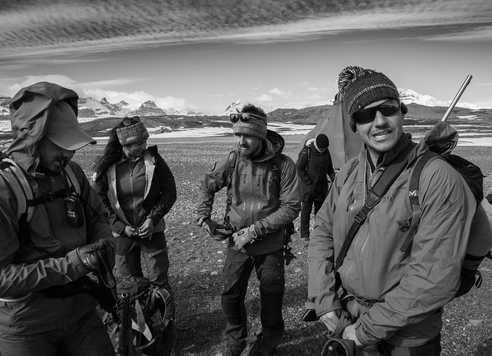 Equipe de guides arctiques au Spiztberg, 66°Nord