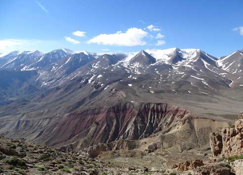 Montée au col de Noughri, Haut Atlas Central, Maroc