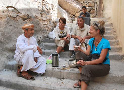 Pause café à Misfat - Oman