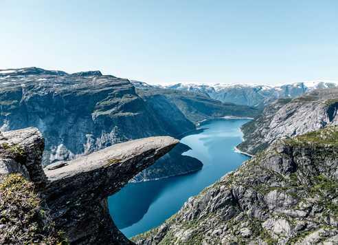 Randonnée langue des Troll Norvège