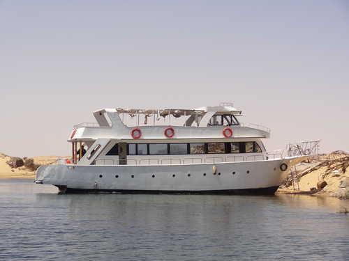 Notre bateau sur le Lac Nasser, Egypte