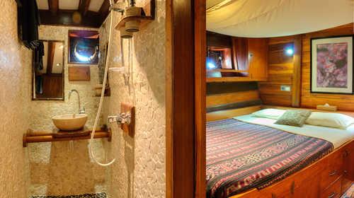 Aperçu cabine et salle de bains de l'Aurora