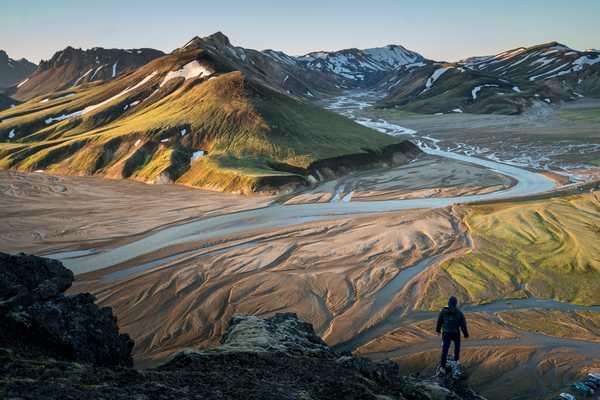 Au pied de Landmannalaugar, en Islande