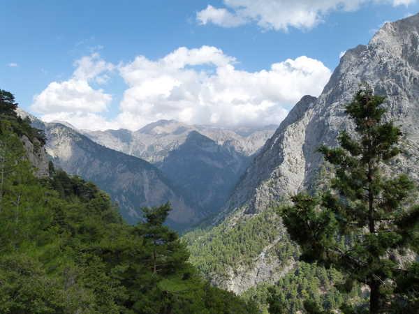 Crète gorges de Samaria en hauteur