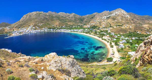 Ile de Serifos, dans les Cyclades en Grèce