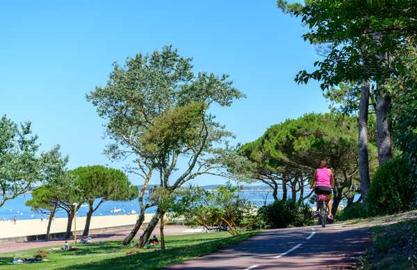 Vélo le long du bassin d'Arcachon