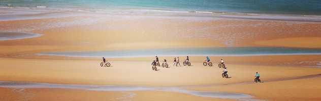 A vélo sur les grandes plages normandes