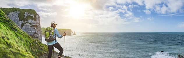 Coucher de soleil sur la côte d'Albatre, Normandie