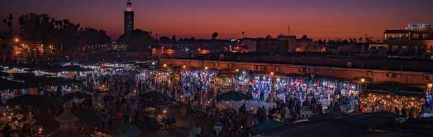 Place Jemaa El Fna à Marrackech