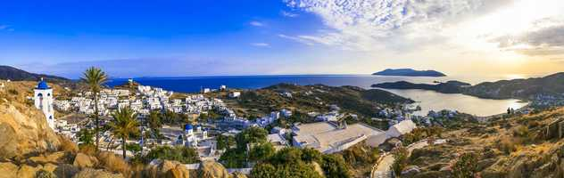 Vue sur la ville de Chora, Cyclades