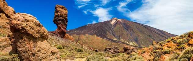 Vue sur le Roque Cinchado  et le Teide