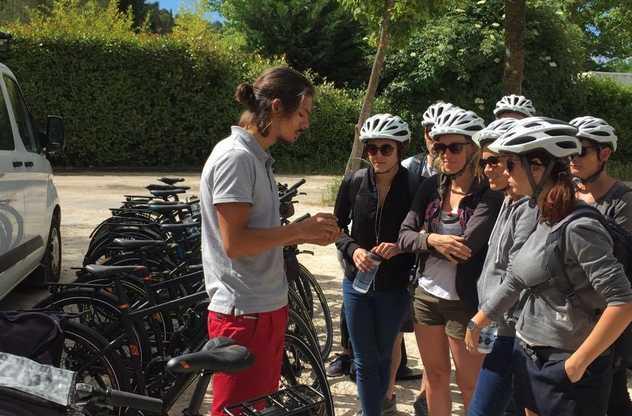 accueil avec guide cap vélo