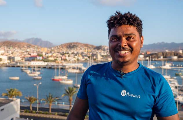 Diddy, notre responsable des opérations au Cap Vert
