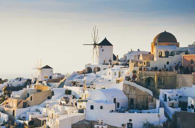 Maisons blanches de Santorin