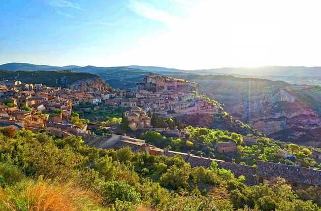 Panorama sur le village d'Alquezar