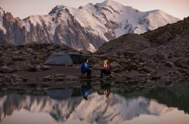 Trek dans le massif des Aiguilles Rouges
