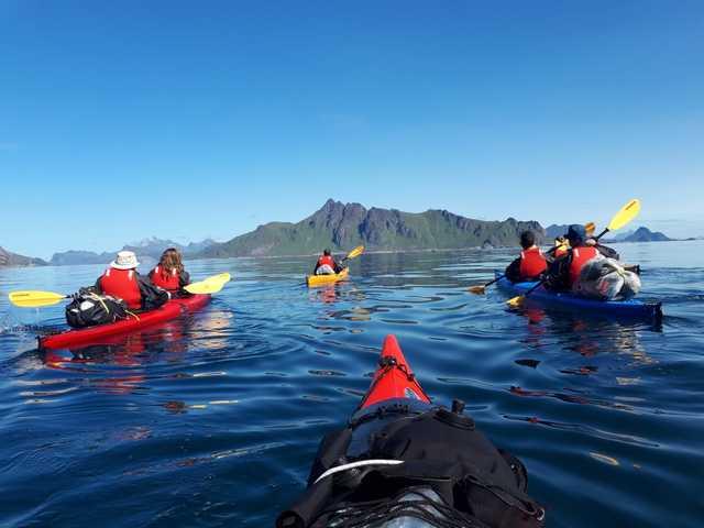 Kayak dans les îles Lofoten