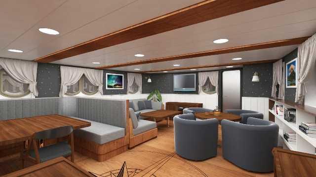 Cabine intérieure du bateau de croisière Grand Large