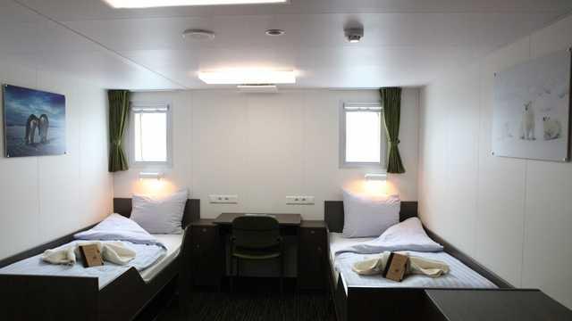 Cabines lits séparés du bateau Ortelius