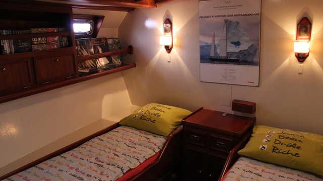 Couchettes cabines du bateau Mar Y Pôles